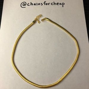 Men's snake gold chain